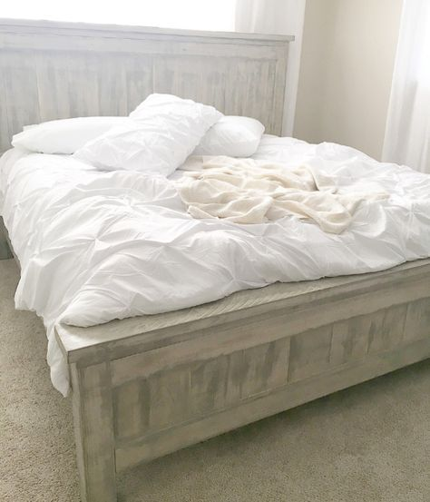 King Farmhouse Bed Do It Yourself Home Projects From Ana White Master Bedroom Tutorials Pinterest Bedroomaster