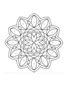 Dividing Polynomials Coloring Page Geometric Coloring Pages Mandala Coloring Books Mandala Coloring Pages