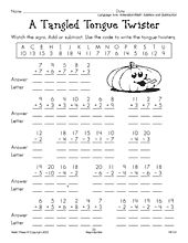 October and Halloween free reproducible worksheet for 1st ...