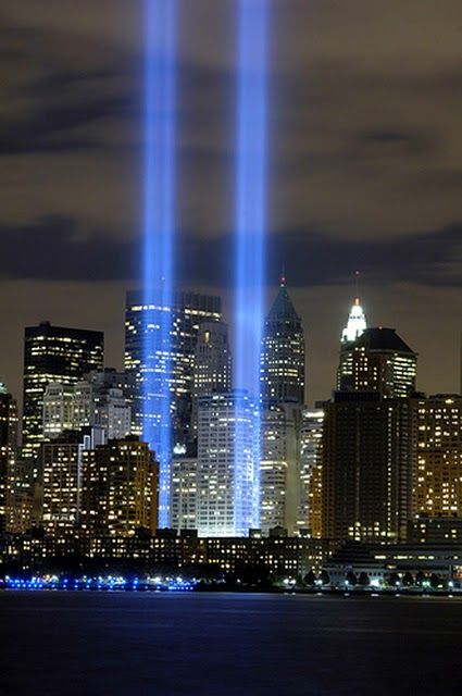 The Twin Tower Memorial in New York City . Thank you to all those who were there 11 years ago . My.heart goes out to the families survivors or not . Bless yall !