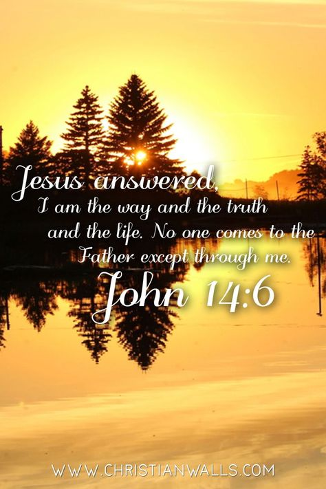 John 14:6 says Jesus saith unto him, I am the way, the truth, and the life: no man cometh unto the Father, but by me   #christianquotes #bibleverse