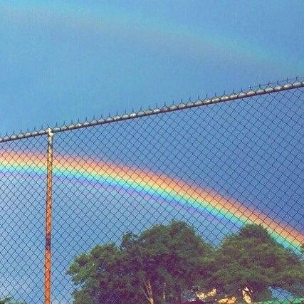 It was the first rainbow he'd seen since he'd been free. Jay smiled to himself as the colours painted the sky.