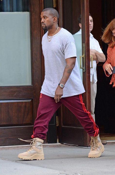 Kanye West Wears Adidas Yeezy Season 4 Calabasas Sweatpants