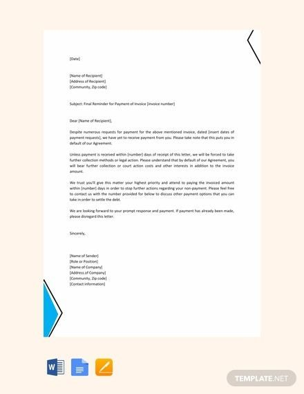 Reminder Letter Confidentiality Letter Or Former Letter Letter Template Word Resume Cover Letter Template Letter Templates