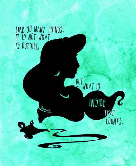 "Jasmine silhouette message, ""Like so many things, it is not what is outside, but what is inside that counts"" Shadows & Light by Jennifer Jenell Konschak"