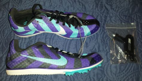 Nike Zoom Rival D Track Racing Spike Shoes Womens 7 Purple
