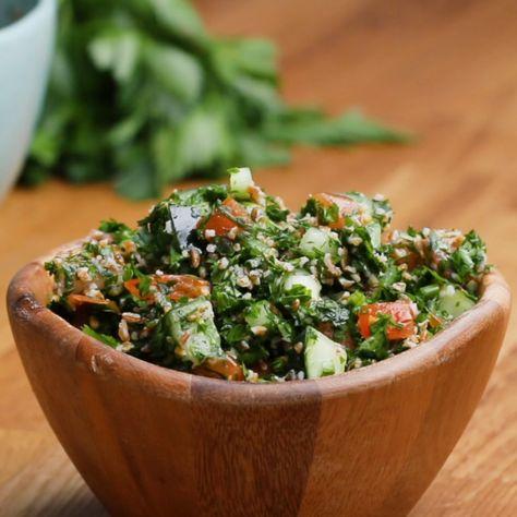 Gesunder, frischer #Tabbouleh-Salat – danach fühlst du dich wie neugeboren