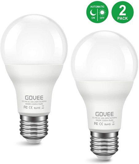 2 Pack Govee Led Light Bulbs 9 99 Reg 19 99 With Promo Code In 2020 Light Bulb Light Sensor Led Light Bulbs