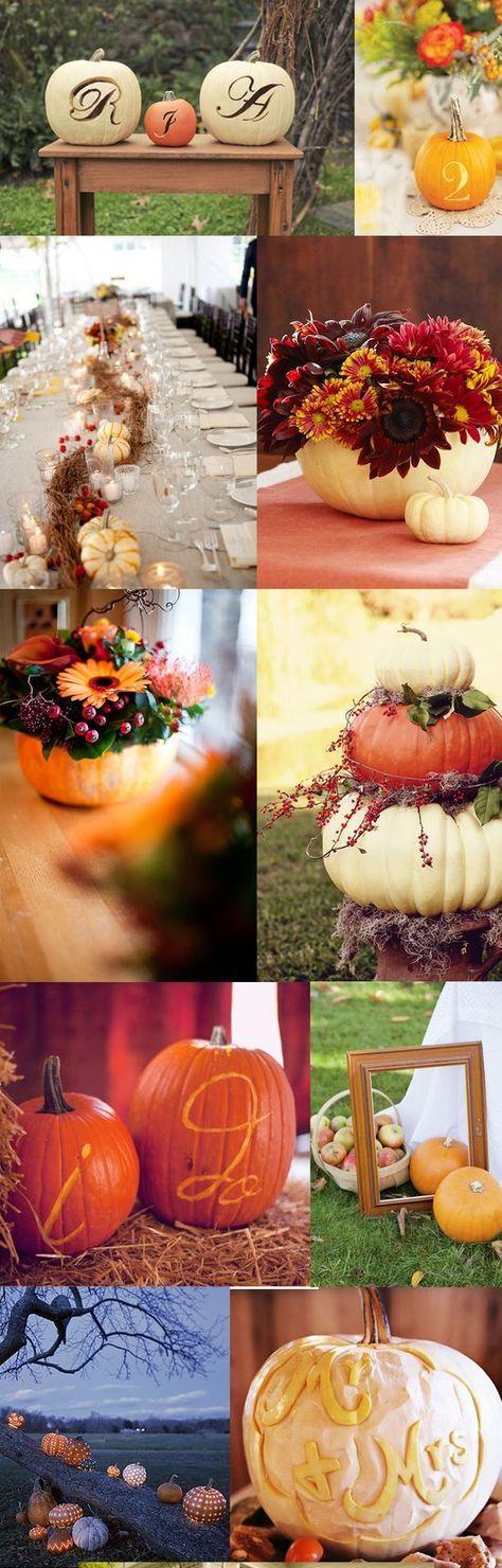 pumpkin wedding ideas / http://www.himisspuff.com/fall-pumpkins-wedding-decor-ideas/