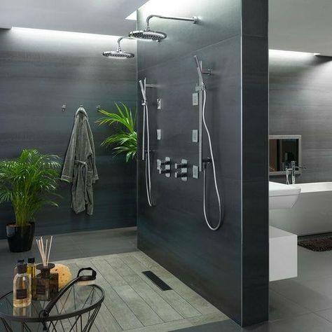 Salle de bain ardoise  naturelle et chic Architecture, Interiors - salle de bain ardoise
