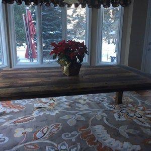 Reclaimed Wood Farmhouse Dining Table Textured Finish