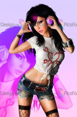 Sexy girl pic for psp