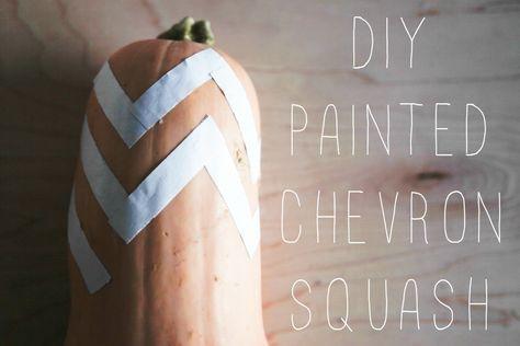 DIY Chevron Painted Squash
