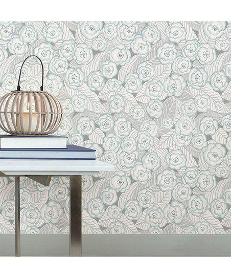 Wallpops Gray Oopsie Daisy Peel Stick Wallpaper Zulily Nuwallpaper Peel And Stick Wallpaper Removable Wallpaper