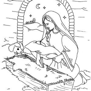 dicesis de mlaga fano levangeli del diumenge_bn pinterest portal - Mary Baby Jesus Coloring Page