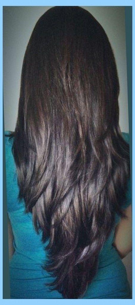 Image Result For V Style Haircut Cabelo Cabelo Castanho Liso Cabelo Comprido Em Camadas