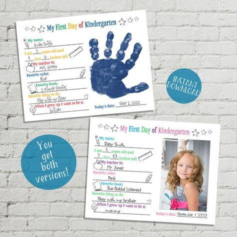 Back to School Interview, All About Me Printable Questionnaire, Back to School Questionnaire, First Day of School Handprint Keepsake