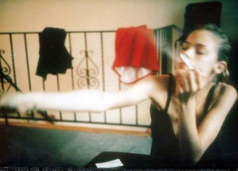 "James King by Nan Goldin. ""In the process of photographing, I feel no distance, I feel like I'm touching somebody."" Do you like Nan Goldin? Color Photography, Film Photography, Fashion Photography, Nan Goldin Photography, Matthieu Venot, Jamie King, Grunge, Heroin Chic, High Pictures"