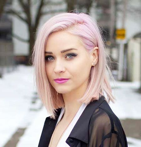 Short Blonde Pink Hair Color Light Pink Hair Pink Short Hair Hair Color Pink