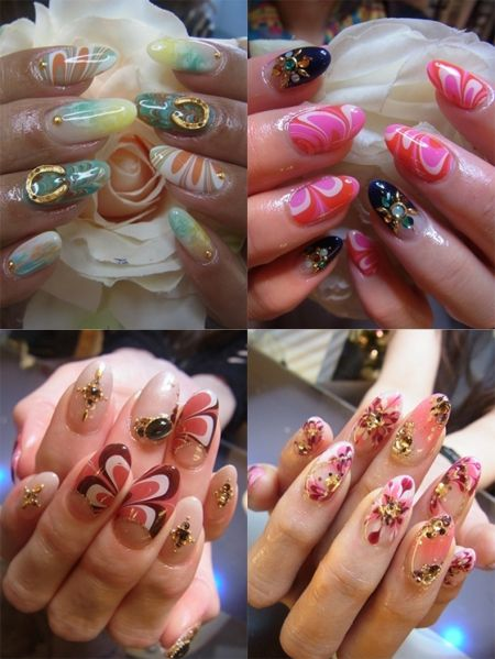 nails marble effect