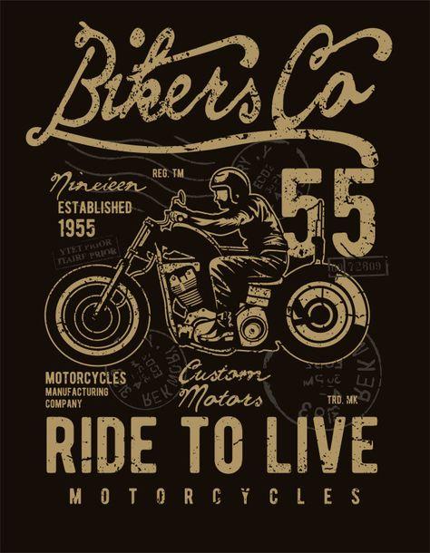 Bikers co Premium Vector   Premium Vector #Freepik #vector #vintage #motorcycle #motor #classic