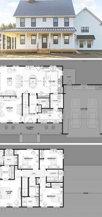 26 Trendy Farmhouse Plans One Story Open Floor Fireplaces Farmhouse In 2020 House Plans Farmhouse Modern Farmhouse Plans House Plans