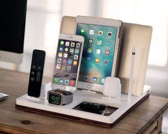 AirPods iPad father/'s day gift iPhone Custom Charging Station for iPod and more Personalized docking station for electronics