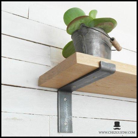 Equerre Brute Pour Planche De 200 Mm Style Industriel Pour Tablette En Bois Support Mural En Metal Acier En 2020 Tablette En Bois Support Mural Et Etagere Rustique