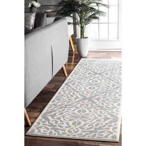 Silver Orchid Simmons Modern Medallion Trellis Area Rug In 2020