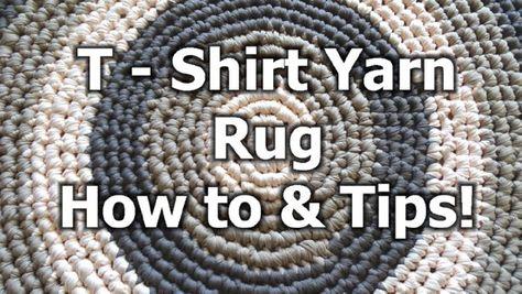 T – Shirt Yarn Round Rug – How to crochet a rug - Free Crochet Pattern - Meladora's Creations
