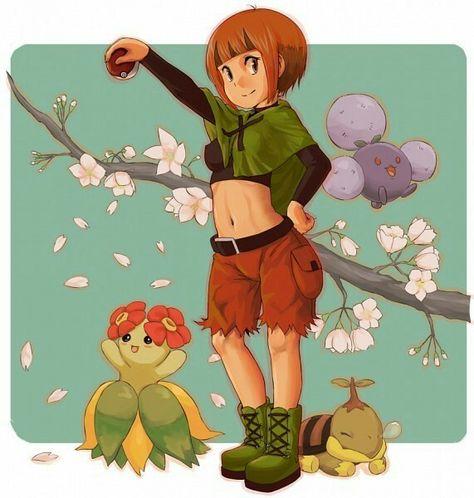 Gardenia Jumpluff Bellossom And Turtwig Pokemon Pokemon