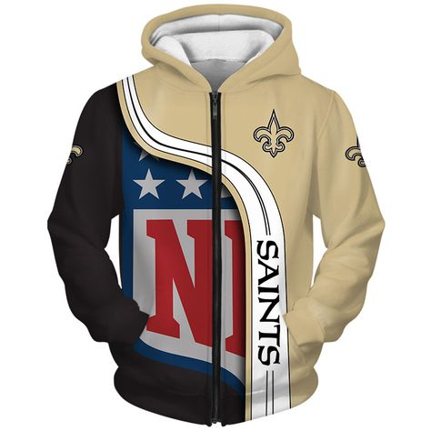 New Orleans Saints 3D Hoodie Pullover Sweatshirt NFL for