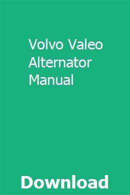 Volvo Valeo Alternator Manual | Chilton manual, Chevy astro ... on chevy astro trailer wiring harness, chevy astro alternator bracket, chevy astro fuel pump problems,