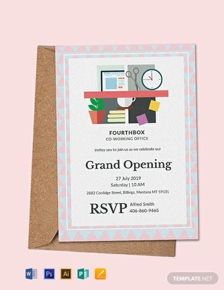 Office Opening Invitation Card Template Free Pdf Word Doc Psd Apple Mac Pages Illustrator Publisher Invitation Card Format Invitation Template Invitation Card Maker