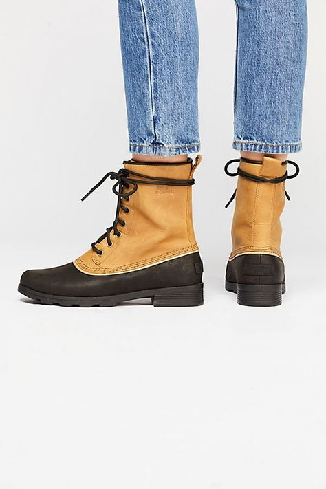 b2e8d94a5 Emelie 1964 Weather Boot - Tan Sorel Winter Boots with Black Sole