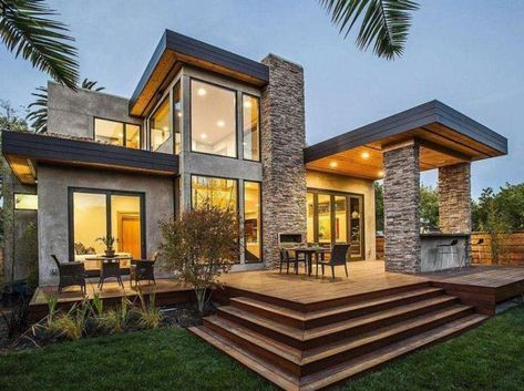 Craftsman House Rustic Modern Home Design Never Go Out Of Types Rustic Modern Home Design In 2021 Prefabricated Houses Contemporary House Design Luxury House Designs
