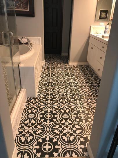 merola tile arte black encaustic 9 3 4