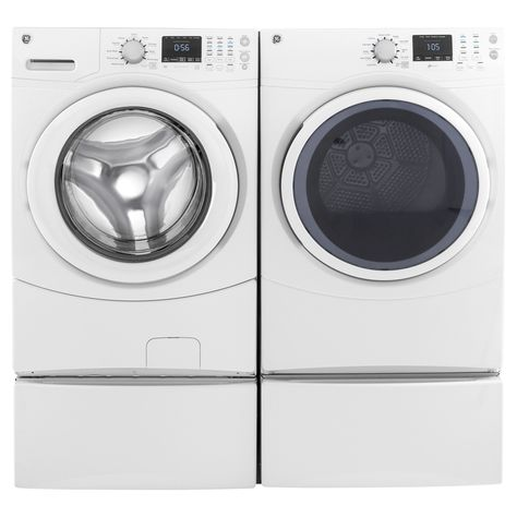 Ge Laundry Pair With 7 5 Cubic Feet Capacity Frontload Gas Dryer