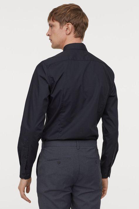 slim skjorta herr