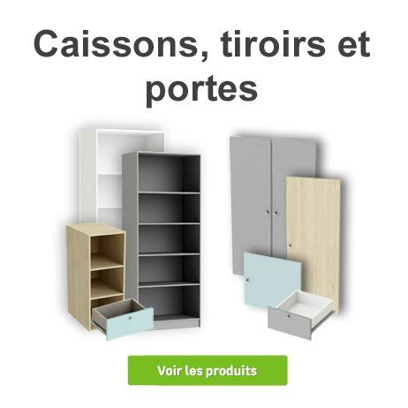 Caissons Et Tiroirs Spaceo Meuble Rangement