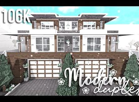Modern Duplex Part1 Exterior Roblox Bloxburg Gamingwithv Youtube In 2020 House Designs Exterior House Plans With Pictures Two Story House Design
