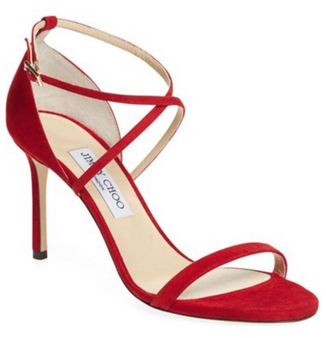Loving these red Jimmy Choo sandals