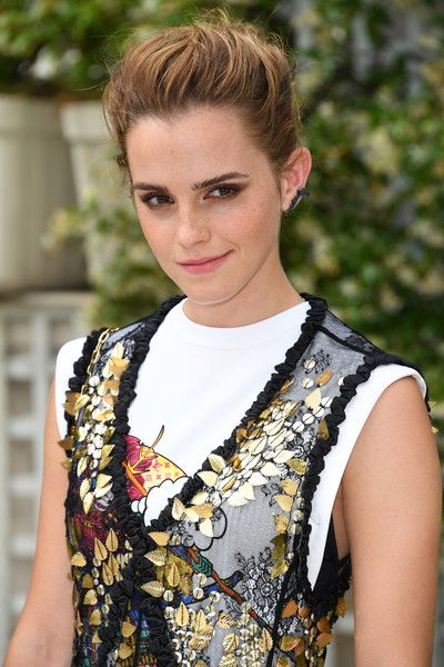Emma Watson attends 'The Circle' Paris Photocall at Hotel Le Bristol in Paris.