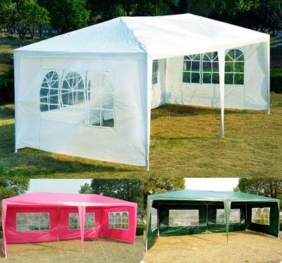 Outdoor 10u0027 X 20u0027 Gazebo POP UP Party Tent Patio Wedding Canopy BBQ  W/sidewalls | Wedding Canopy, Canopy And Tents
