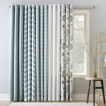 The Big One Decorative 2 Pack Aqua Window Curtain Collection