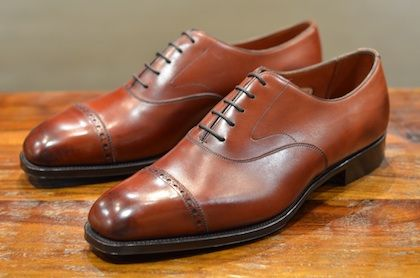Dark Antique Oak Berkeley Leather Oxfords Edward Green