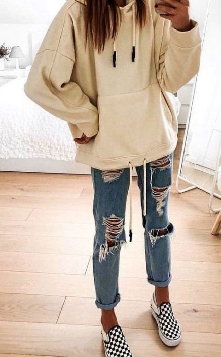 How to wear hoodies outfits winter 27 Super ideas