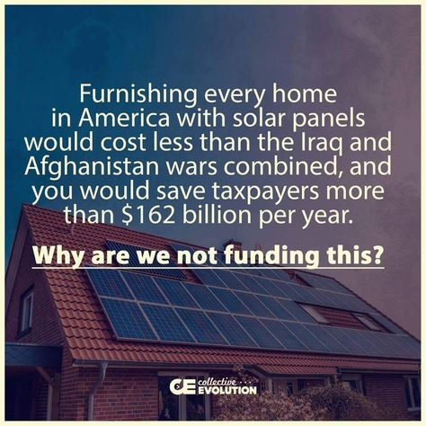 We're not funding it because that would cut into gas and oil heating, so…
