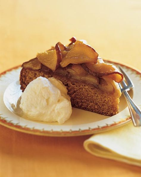 Honey Cake with Caramelized Pears