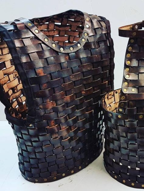 Leather Woven Armor; medieval armor; leather cuirass; leather woven сuirass; body armour;